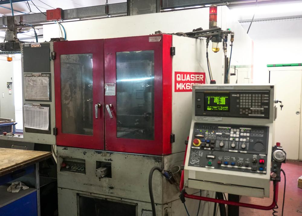Bearbeitungszentrum Quaser MK60 mit zwei paletten